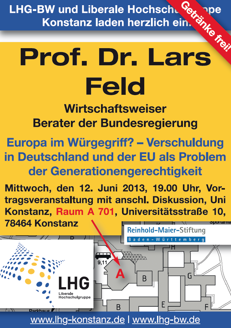 Veranstaltung mit Prof. Dr. Lars Feld