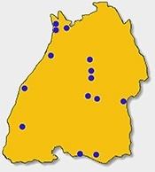 Karte aller LHGs im Land