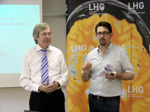 Prof. Dr. Uwe Kamenz und Landesvorsitzender Alexander Schopf