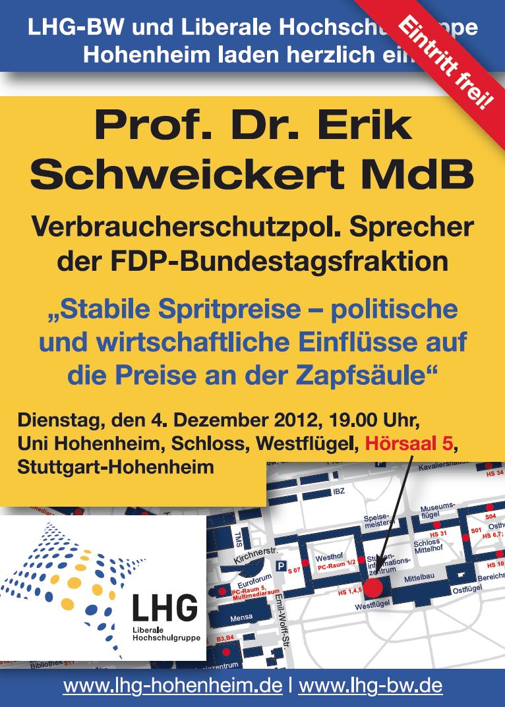 Vortrag mit Prof. Dr. Erik Schweickert MdB