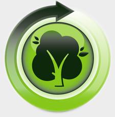 Internetseite mit 100 % Ökostrom betrieben