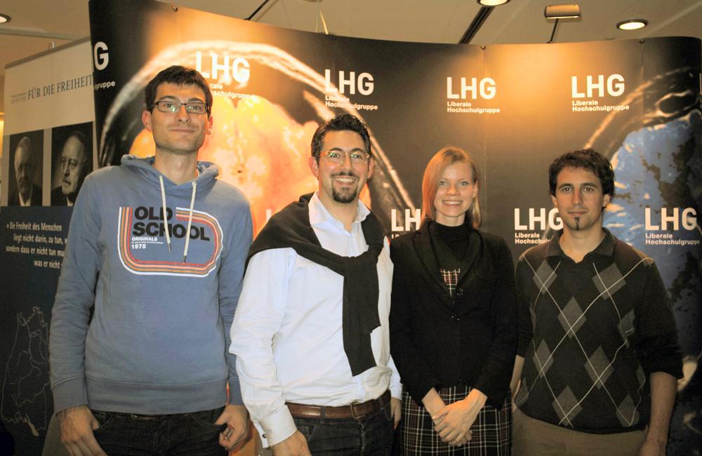 Mitglieder der LHG Stuttgart bei der Avete Academici 2014: Daniel, Alexander, Natalia und Mark